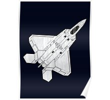 F 22 Stealth Fighter Jet Poster