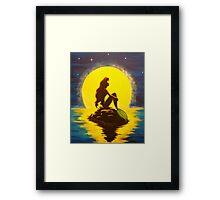 Ariel & the Moon - the Little Mermaid Framed Print