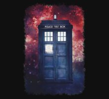 Police Blue Box Tee The Doctor T-Shirt by DarrellHo
