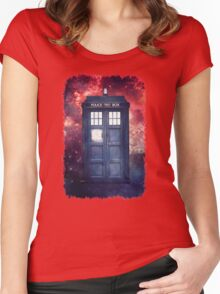 Police Blue Box Tee The Doctor T-Shirt Women's Fitted Scoop T-Shirt