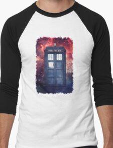 Police Blue Box Tee The Doctor T-Shirt Men's Baseball ¾ T-Shirt