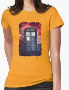 Police Blue Box Tee The Doctor T-Shirt Womens Fitted T-Shirt