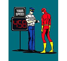 The Flash Funny Nerdy Photographic Print