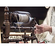 Old Time Spinning Photographic Print