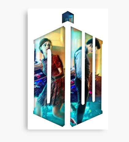 Dr. Who Fans Tee Character T-Shirt Canvas Print
