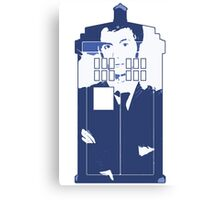 New Blue Box T-Shirt Tardis Tee Canvas Print