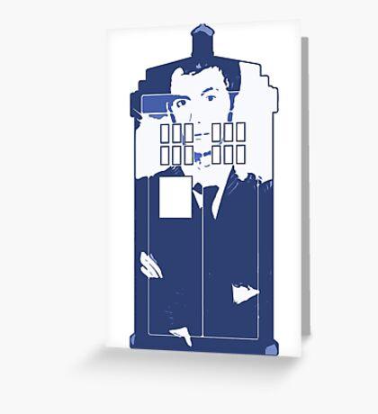 New Blue Box T-Shirt Tardis Tee Greeting Card