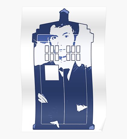 New Blue Box T-Shirt Tardis Tee Poster