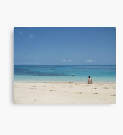 Alone in Paradise Canvas Print
