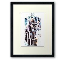 Dr. Who tardis Tee painting T-Shirt Framed Print