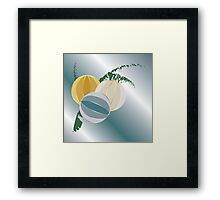 Blue rays for Christmas Framed Print