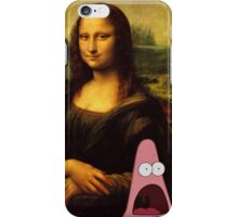 mona lisa... and patrick. iPhone Case/Skin