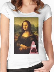 mona lisa... and patrick. Women's Fitted Scoop T-Shirt