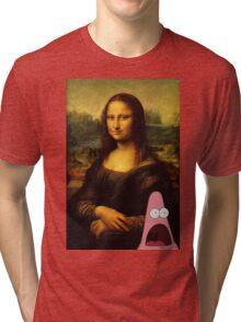 mona lisa... and patrick. Tri-blend T-Shirt