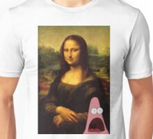 mona lisa... and patrick. Unisex T-Shirt