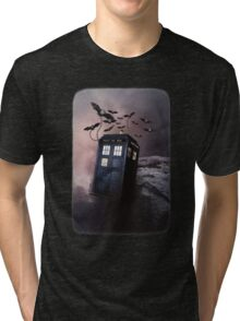 Flying Blue Box In Space Hoodie / T-shirt Tri-blend T-Shirt