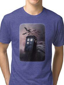 Flying Blue Box In Space Hoodie / T-shirt Tri-blend T-Shirt
