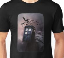 Flying Blue Box In Space Hoodie / T-shirt Unisex T-Shirt