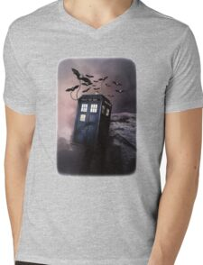 Flying Blue Box In Space Hoodie / T-shirt Mens V-Neck T-Shirt