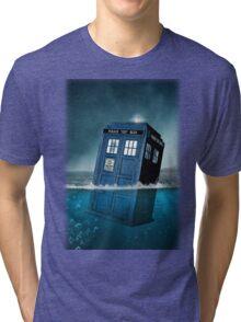 Blue Box in Water Hoodie / T-shirt Tri-blend T-Shirt