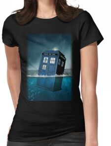 Blue Box in Water Hoodie / T-shirt Womens Fitted T-Shirt