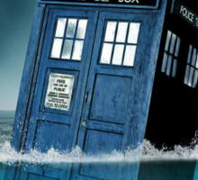Blue Box in Water Hoodie / T-shirt Sticker