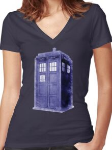 Blue Box Hoodie / T-shirt Women's Fitted V-Neck T-Shirt