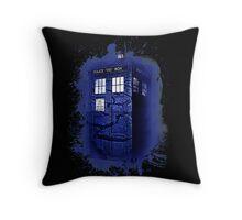 Scratch Blue Box Hoodie / T-shirt Throw Pillow