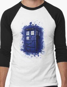 Scratch Blue Box Hoodie / T-shirt Men's Baseball ¾ T-Shirt