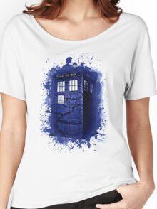 Scratch Blue Box Hoodie / T-shirt Women's Relaxed Fit T-Shirt