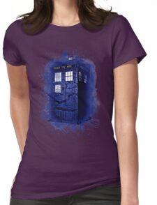 Scratch Blue Box Hoodie / T-shirt Womens Fitted T-Shirt