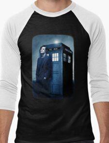 doctor smith tee Tardis Hoodie / T-shirt Men's Baseball ¾ T-Shirt