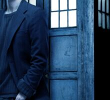 doctor smith tee Tardis Hoodie / T-shirt Sticker