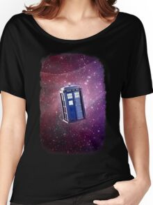 Blue Box nebula Tee Tardis Hoodie / T-shirt Women's Relaxed Fit T-Shirt