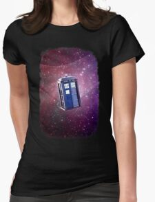 Blue Box nebula Tee Tardis Hoodie / T-shirt Womens Fitted T-Shirt