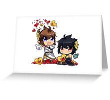 Kid Icarus - (chibi) Pit & Dark pit Greeting Card