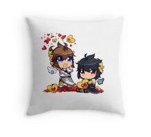 Kid Icarus - (chibi) Pit & Dark pit Throw Pillow