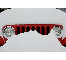 Jeep Grill Photographic Print