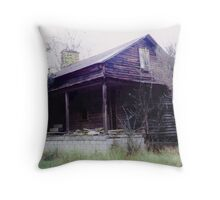 Homestead of Settlers Throw Pillow