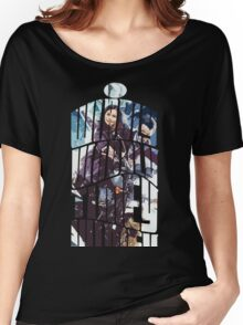 Dr. Who tardis Tee painting T-Shirt Women's Relaxed Fit T-Shirt