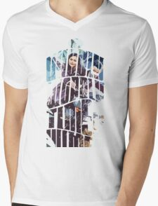 Dr. Who tardis Tee painting T-Shirt Mens V-Neck T-Shirt