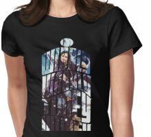 Dr. Who tardis Tee painting T-Shirt Womens Fitted T-Shirt