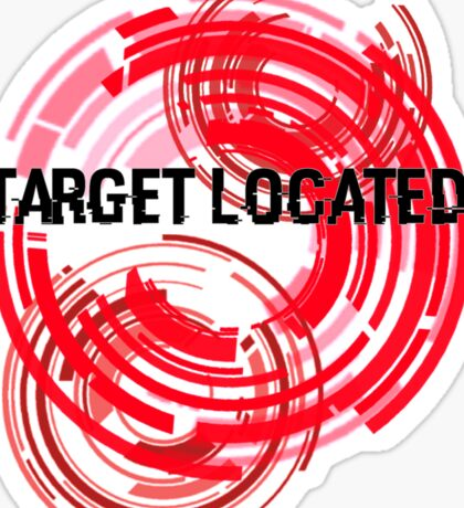 Target Located Sticker