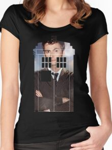 The Doctor Tee - Tardis T-Shirt Women's Fitted Scoop T-Shirt