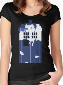 New Blue Box T-Shirt Tardis Tee Women's Fitted Scoop T-Shirt