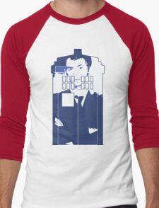 New Blue Box T-Shirt Tardis Tee Men's Baseball ¾ T-Shirt