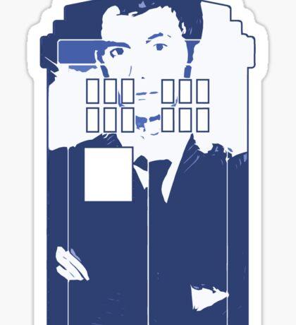 New Blue Box T-Shirt Tardis Tee Sticker