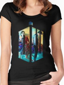 Dr. Who Fans Tee Character T-Shirt Women's Fitted Scoop T-Shirt