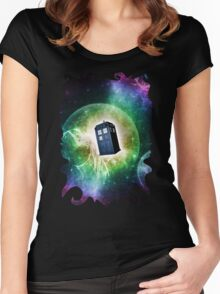 Universe Blue Box Tee The Doctor T-Shirt Women's Fitted Scoop T-Shirt