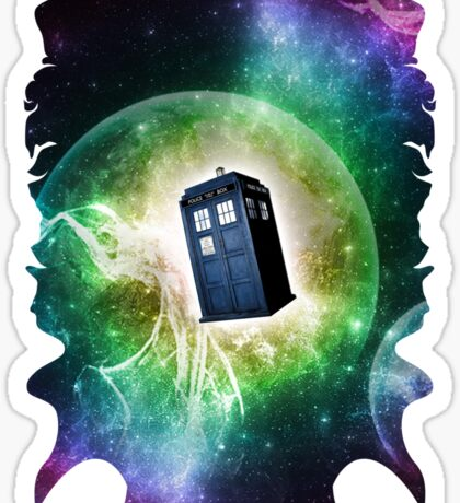 Universe Blue Box Tee The Doctor T-Shirt Sticker
